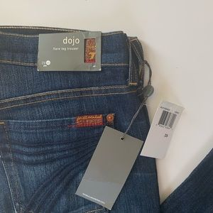 7 For All Mankind Jeans - 7 For All Mankind Dojo Jeans 29 Short Dark Wide